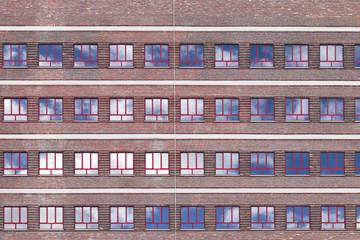 Hochhaus Fensterfront Himmel