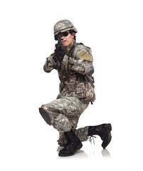 soldier aiming with rifle