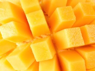 Closeup slice of mango background