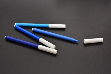 Stifte blau