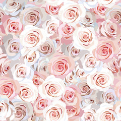 Seamless rose background