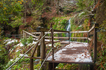 Fototapete - Sankenbachwasserfall, Baiersbronn
