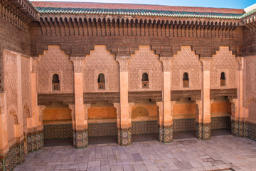 The Ben Youssef Madrasa in Marrakech Morocco