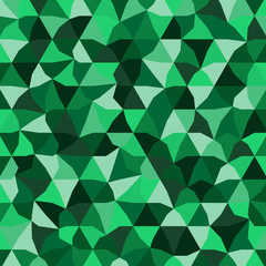 Pattern with green triangles.