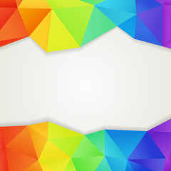 Abstract polygonal rainbow background