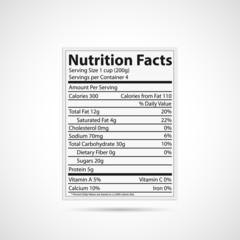Nutritonal Label Illustration