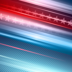 American Independence Day. Vector striped red and blue