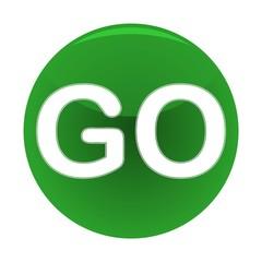 Shiny Green Go Button - Illustration