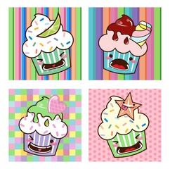 Desenho Cupcake kawaii Set 05