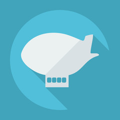 Flat modern design with shadow airship