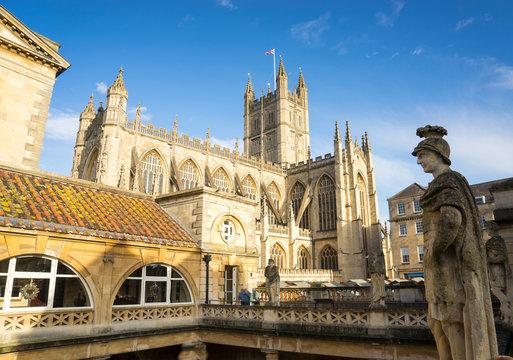 BATH, UK  NOVEMBER 30, 2014: View of the Roman Baths in Bath, UK
