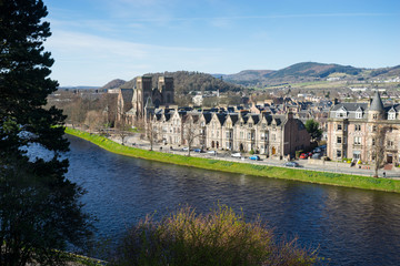 INVERNESS, SCOTLAND APRIL 10, 2015: Inverness city, Scotland, on