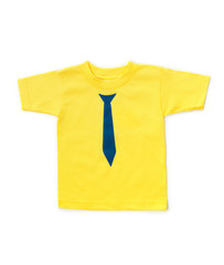 Cute yellow childrens t-shirt
