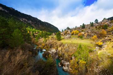 Tajo river in autumn