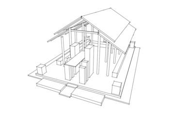 3d vector architecture,Thai style