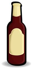 Red Retro Black Champagne Bottle