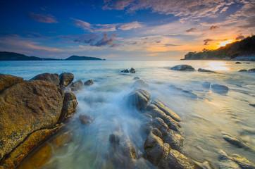 A beautiful landscape in Sunset time at Kalim Beach, Phuket Island, Thailand