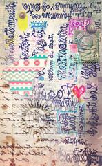 Scrapbook,graffiti and collage series