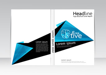 Cover Report Annual Flyer Poster Vector design in A4 size