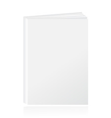 Blank vertical book cover template. Vector illustration.