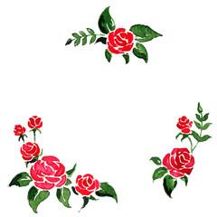 Vector illustration -- round frame of roses