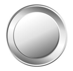 Shiny Metallic Coin Vector Element