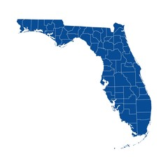 Florida state - county map