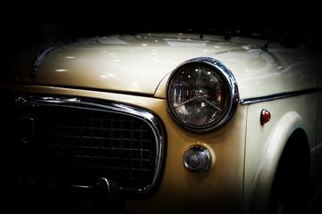 Fotobehang Vintage cars Retro classic car on black background. Vintage, elegant