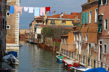 Clothesline in Venice - Italy