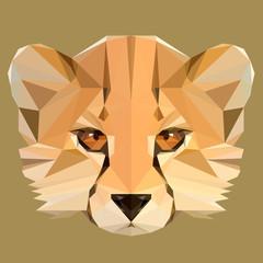 Low poly cheetah vector