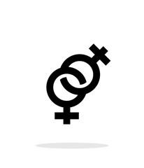 Lesbian icon on white background.