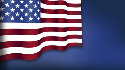 Feiertag, Unabhängigkeitstag, vierter Juli, Fahne