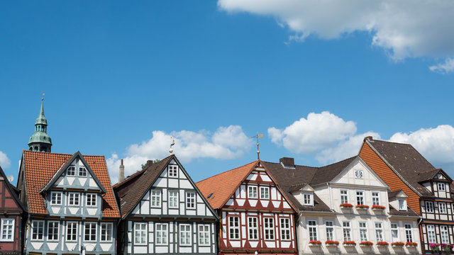 Half-timbered houses at the old town of Celle, Germany