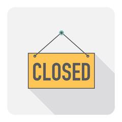 Closed sign. Vector Illustration.