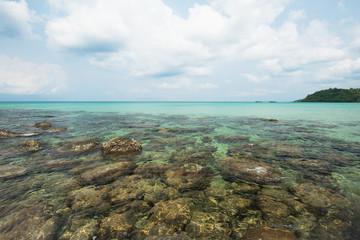 Wall Mural - Reef and shallow beach at Koh Kood Island , Thailand