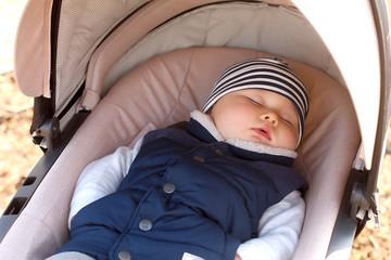 Baby sleeping outside