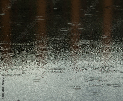 Rainy Day Rain And Water Ripples Stock Photo And Royalty Free