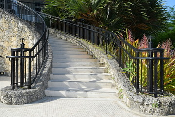 Coral Stone Stairs