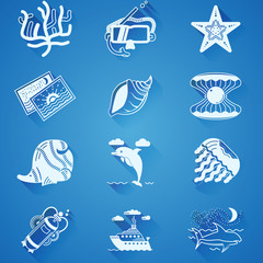 White underwater icons