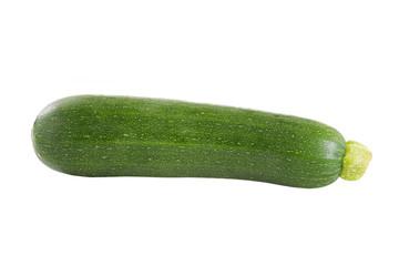 fresh green zucchini isolated on white