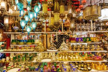 Geschäft im Großen Basar in Istanbul, Türkei