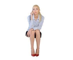 Business woman talk phone