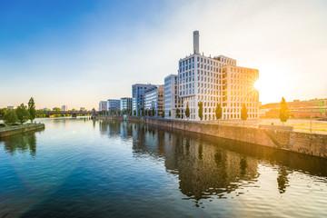 Fond de hotte en verre imprimé Port Westhafen Frankfurt