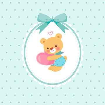 파란리본 아기곰