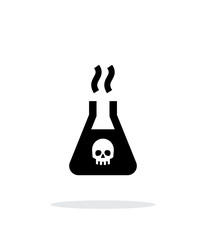 Dangerous substance simple icon on white background.