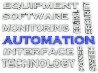 3d image Automation  issues concept word cloud background