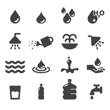 water icon set
