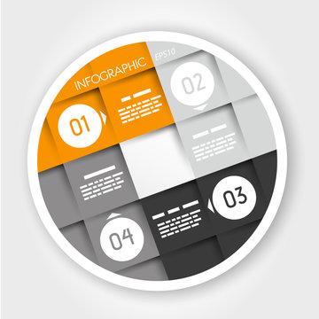 orange infographic ring
