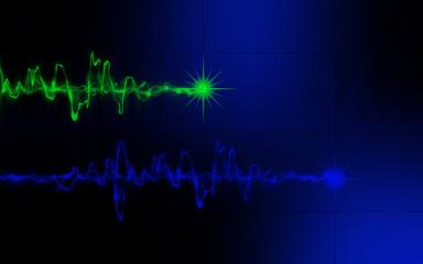 Sound wave black an blue background