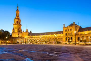 Facade of espana Plaza Seville